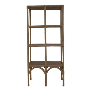 20th Century Boho Chic Jute Rope Bookshelf For Sale