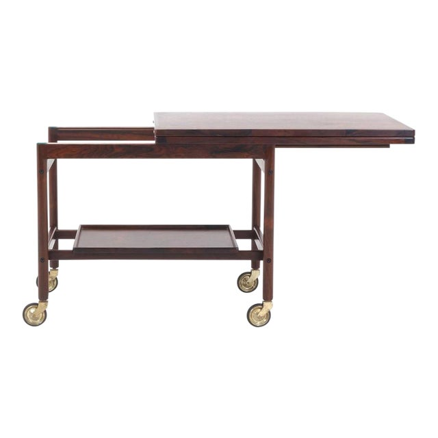 Expandable Rosewood Bar/Serving Cart by Jason Mobler, Denmark For Sale