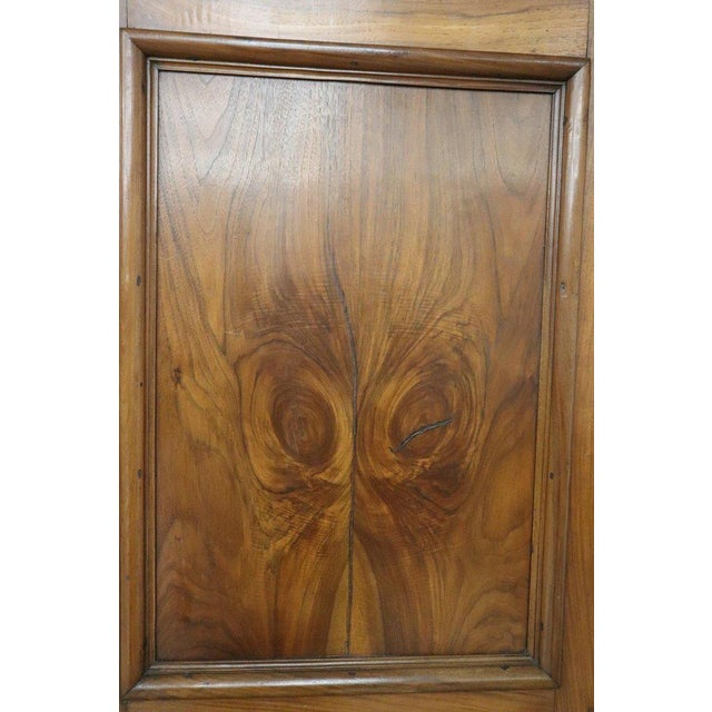Brown 17th Century Italian Louis XIV Walnut Carved Wardrobe or Armoire For Sale - Image 8 of 13