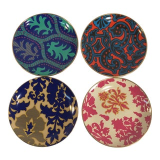Tracy Reese Ceramic Dessert Plates - Set of 4 For Sale