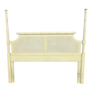 20th Century Boho Chic Henry Link Hali Bai Colection Faux Bamboo Queen /Full Headboard For Sale