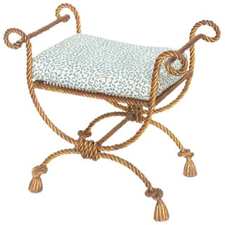 Niccolini Gilded Iron Rope and Tassel Stool