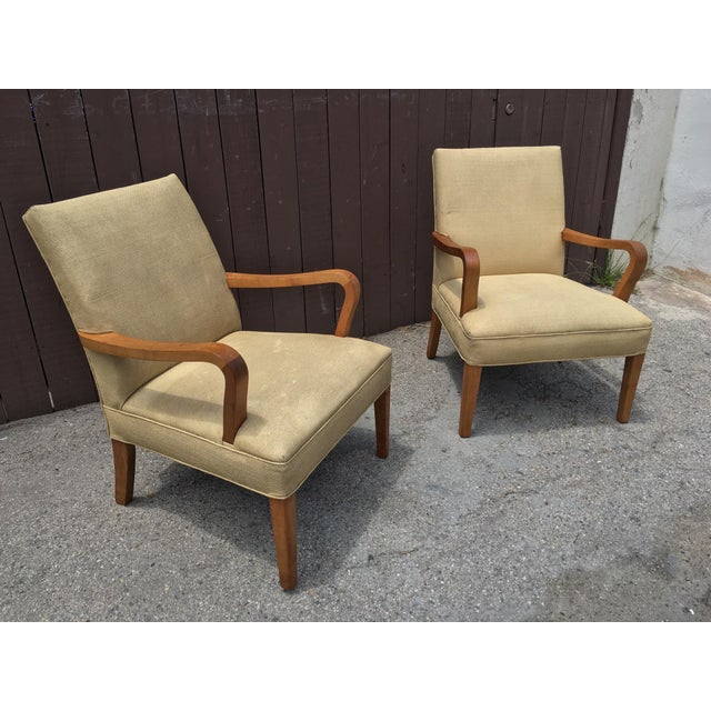 Art Deco Club Chairs - Pair - Image 3 of 10