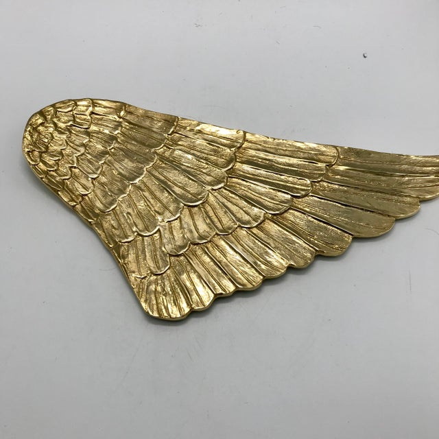 Gilded Metal Gold Wing Serving Platter - Image 6 of 7