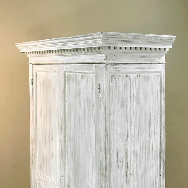 19th Century Swedish Whitewashed Pine Armoire For Sale In Dallas - Image 6 of 12