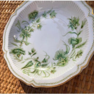 French Limoges Gilt Floral Porcelain Coaster Dish Preview