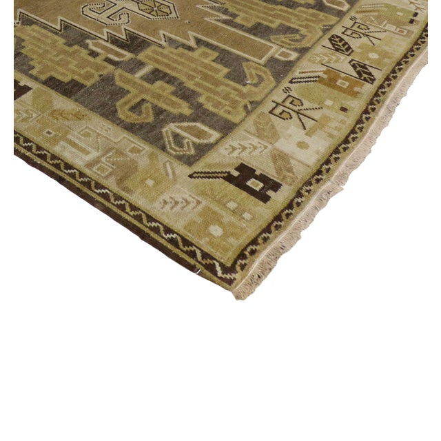Vintage Turkish Oushak Runner Rug - 4′ × 8′1″ - Image 2 of 6