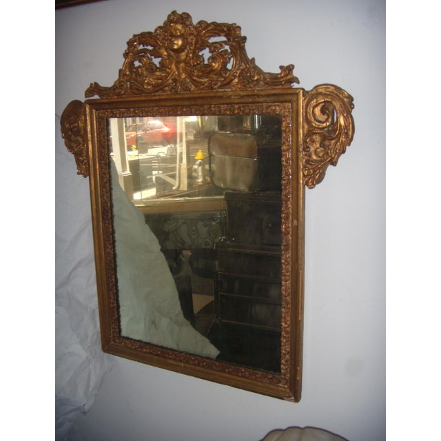Antique Italian Gilt Cherub Mirror - Image 2 of 12