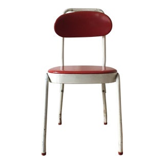 1950's Cosco Red Metal Chair For Sale