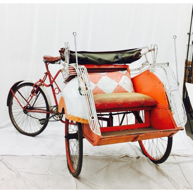 Vintage Indian Rickshaw Cart - Image 6 of 11