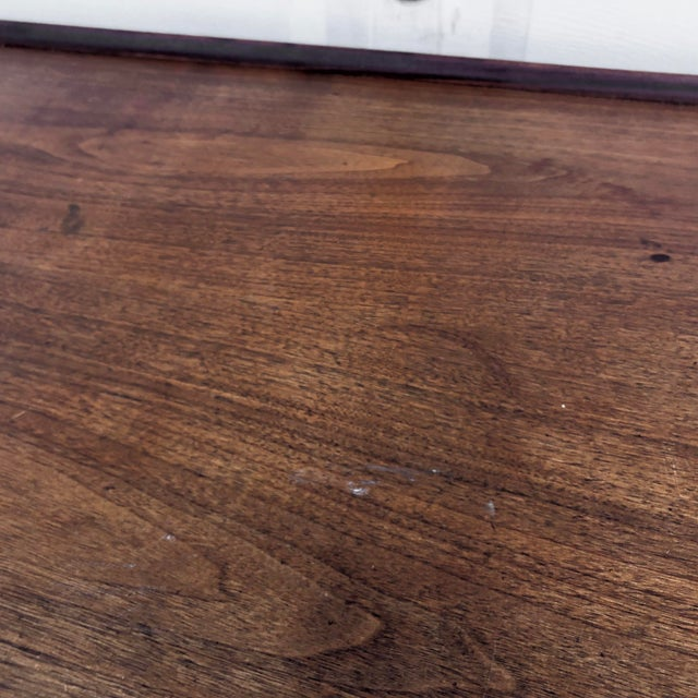 Mid-Century Writing Desk With Raised Edge by Dillingham For Sale - Image 10 of 13