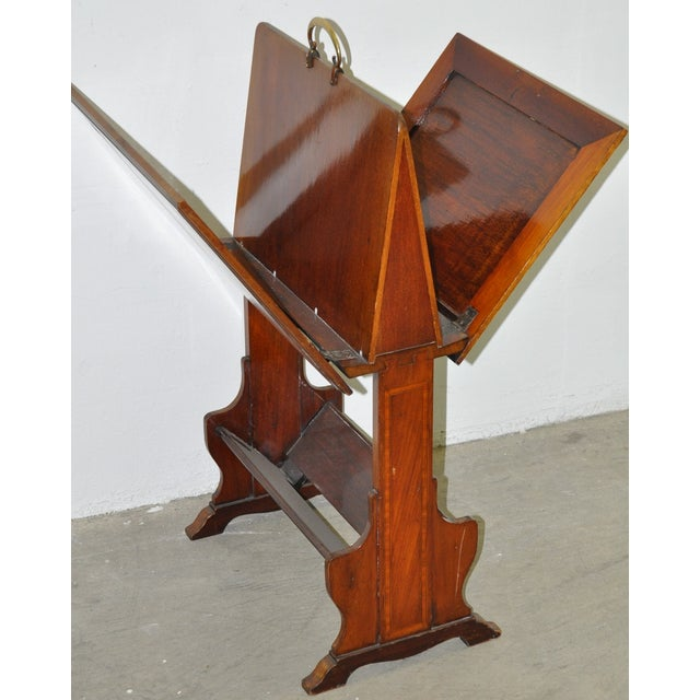 Inlaid Mahogany Folding Art Stand C.1910 For Sale - Image 4 of 4