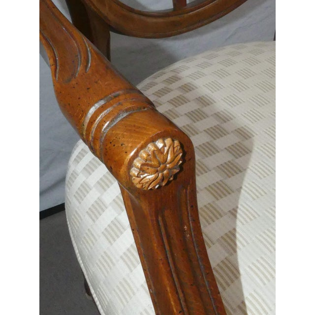 Brown Century Furniture Spider Web Back Style Dining Armchairs- Set of 4 For Sale - Image 8 of 13