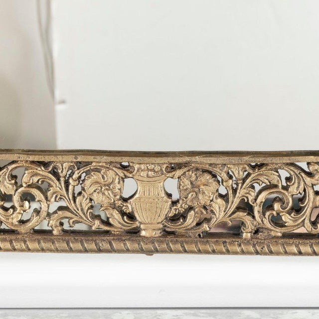 Art Deco Gilded Bronze Arabesque Arch Form Mirror in the Manner of Edgar Brandt For Sale In New York - Image 6 of 7