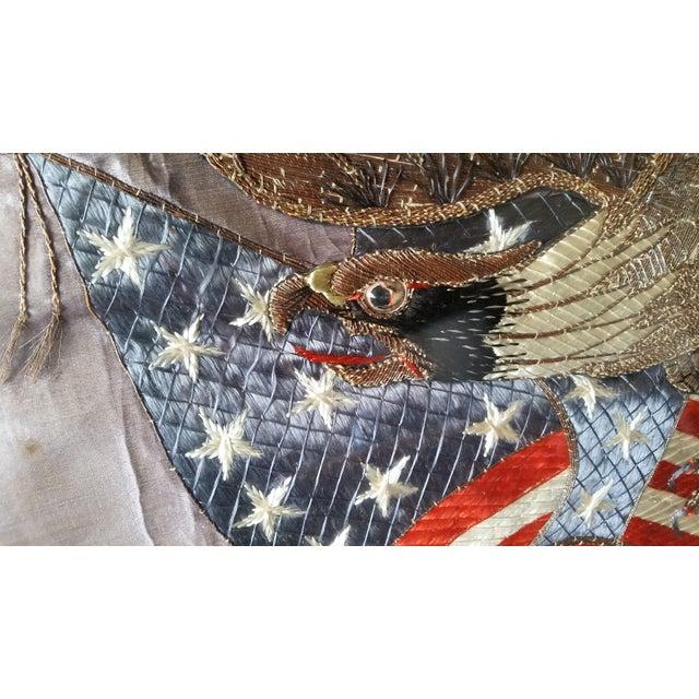 World War I Embroidered Souvenir American Eagle Flag - Image 7 of 8