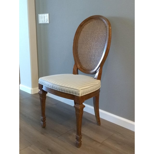 Mid 20th Century Vintage Mid Century Drexel Francesca Louis XV French Oval Back Dining Chairs- Set of 4 For Sale - Image 5 of 7