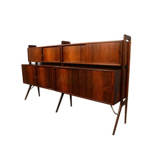 Kurt Ostervig Rosewood Wall Unit Bookcase For Sale