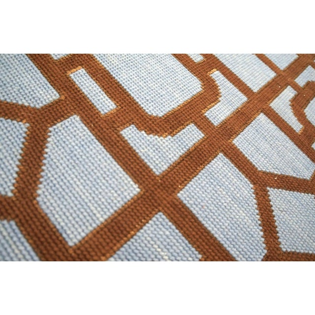 """Textile Modern Needlepoint Wool Rug 9'0"""" X 12'0"""" For Sale - Image 7 of 10"""