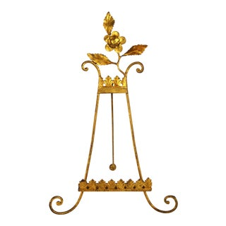 Florentine Gilt Metal Easel For Sale