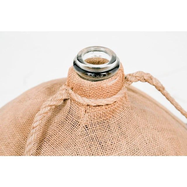 French Early 18th Century Large Old Burlap Wrapped Perfume Bottle For Sale - Image 3 of 4