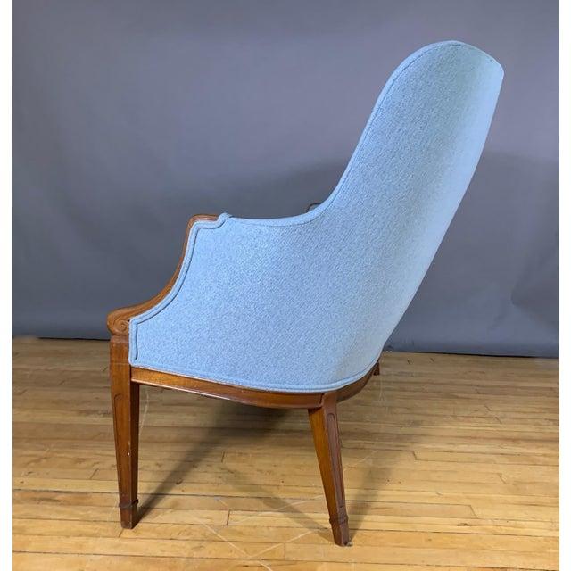 Blue 1940s Fritz Henningsen Curved-Back Settee, Denmark For Sale - Image 8 of 11