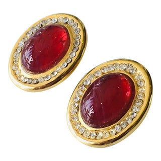Vintage Henry of France French Clip Earrings For Sale