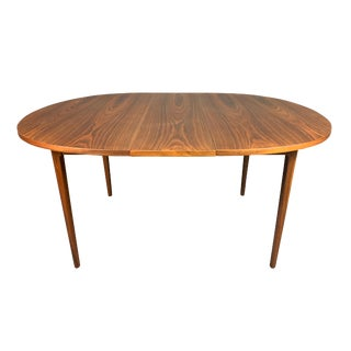 """Vintage Mid Century Modern Walnut """"Declaration"""" Oval Dining Table by Drexel For Sale"""