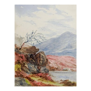Tiny Scottish Highlands Watercolor