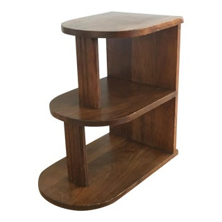 Art Deco Tiered Wooden End Table