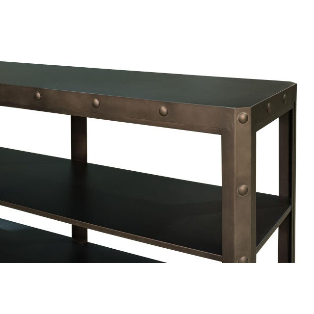 Sarreid LTD Elaine Metal Shelf - Image 4 of 6
