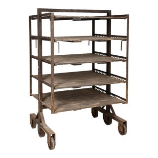 Antique French Industrial Rack For Sale