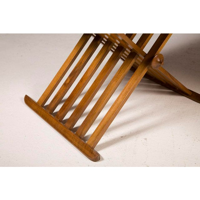 1960s Pair of Walnut Folding Campaign Tables by Stewart MacDougall For Sale - Image 5 of 6