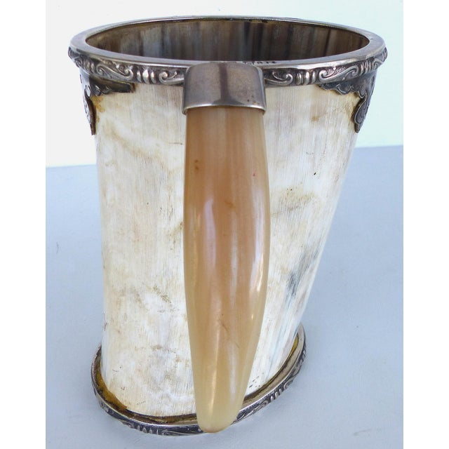 Prata Horn Hunt Cup with Silver Trim - Image 5 of 10