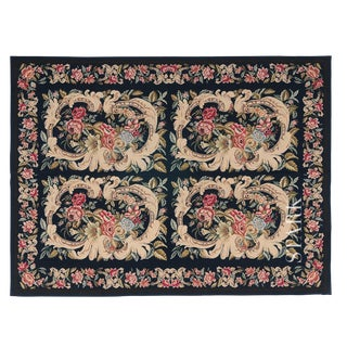 Stark Studio Traditional Chinese Needlepoint Wool Rug - 11′9″ × 16′7″ For Sale
