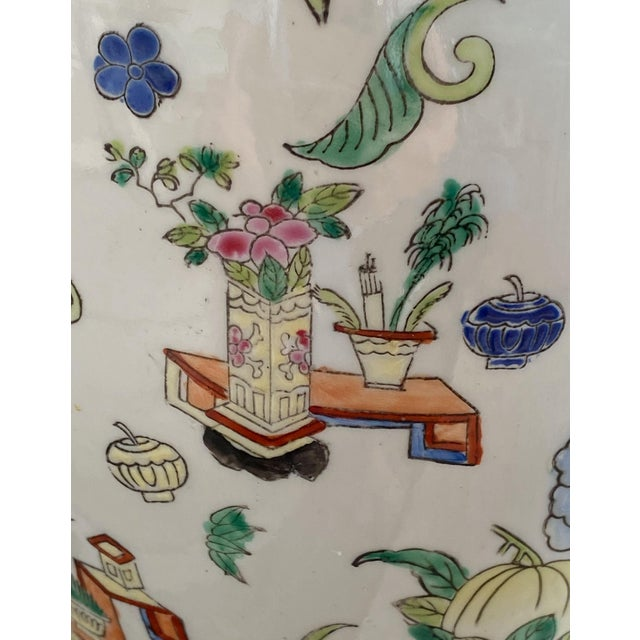 19th Century Chinese Famille Rose Vase With Pink Flowers For Sale - Image 9 of 10