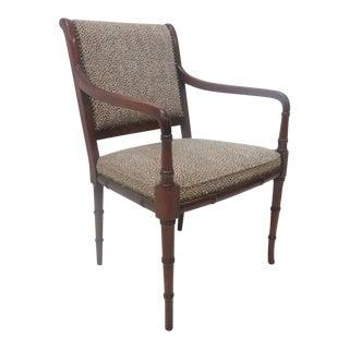 Regency Style Faux Bamboo Armchair
