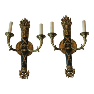 Original 1931 French Sconces From Waldorf Astoria - a Pair For Sale