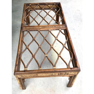 20th Century Boho Chic Rattan and Wicker Coffee Table Preview