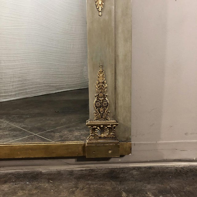 Gold 19th Century French Empire Painted Mirror For Sale - Image 8 of 13