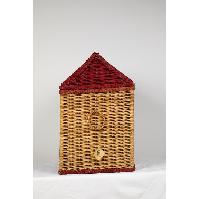 Vintage Schoolhouse Toy Box of Wicker For Sale - Image 9 of 11