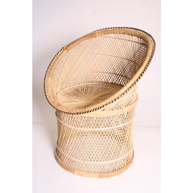 Vintage Boho Chic Wicker Pod Chair - Image 3 of 11