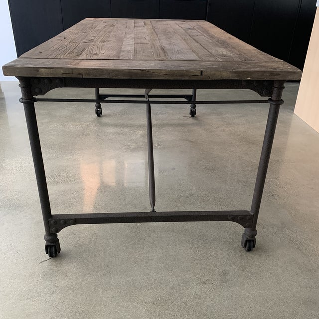 Restoration Hardware Flatiron Dining Table For Sale In Los Angeles - Image 6 of 10