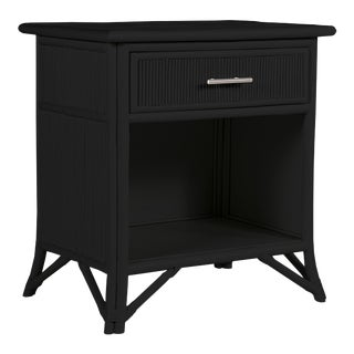 Aruba One-Drawer Nightstand - Black For Sale