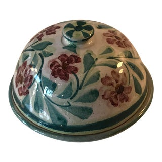 1950s Pottery Handmade Covered Dish For Sale