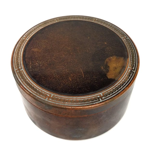Colgate & Co Antique Brass Canister For Sale
