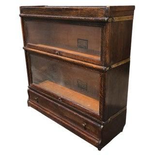 Antique Globe Wernicke 2 Stack Oak Barrister Bookcase
