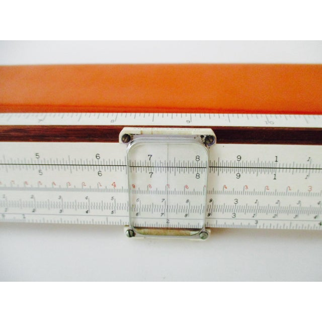 Antique Mahogany Slide Ruler & Magnifier With Orange Leather Case - A Pair - Image 6 of 11