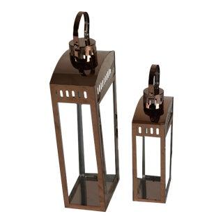 Iron Lanterns - a Pair For Sale