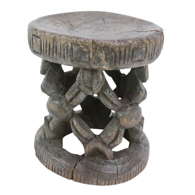 Dayo Tribal Carved Stool For Sale In Los Angeles - Image 6 of 6