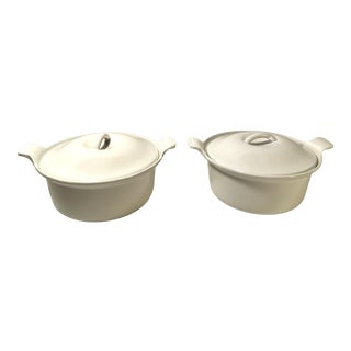 Vintage French Le Creuset Enamelware - a Pair For Sale